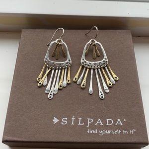 W2778 Silpada Wind Chime sterling earrings